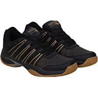 ADDITION Black Sports PU Badminton Shoes