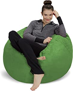 Sofa Sack - Plush, Ultra Soft Bean Bag Chair - Memory Foam Bean Bag Chair with Microsuede Cover - Stuffed Foam Filled Furniture and Accessories for Dorm Room - Lime 3'