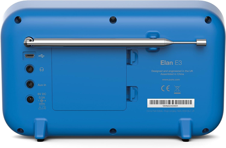 Pure Radio digital Elan E3 puro (DAB/DAB+ digital y FM con temporizador de cocina, pantalla TFT a color de 2,8