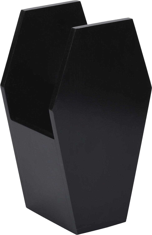 Underground Whispers Coffin Decor - Gothic Kitchen Utensils Holder – Remote Control Caddy, Hair Brush Holder - Storage & Organization for Home, Bedroom, Kitchen, Art Supplies, Goth Room (black)