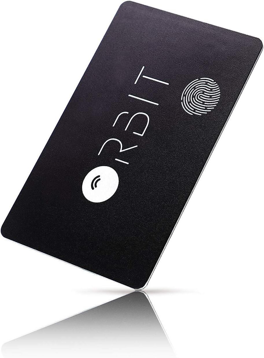 紛失防止タグ 【厚さわずか1.28㎜ 充電できる カード型】 FINDORBIT ORBIT CARD 財布 忘れ物防止 置き忘れ アラーム でお知らせ & GPS で紛失場所を記録【Black】