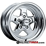 Pacer Dragstar 15x8 Polished Wheel / Rim 5x4.75 with a 0mm Offset and a 83.00 Hub Bore. Partnumber 521P-5861