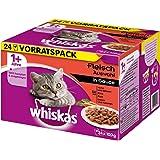 Whiskas Katzenfutter 1+ / Hochwertiges Nassfutter in Sauce für erwachsene Katzen