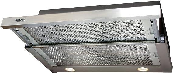 Nodor EXTENDER Encastrada Acero inoxidable 390m³/h C - Campana (390 m³/h, Canalizado/Recirculación, E, A, D, 57 dB): Amazon.es: Grandes electrodomésticos