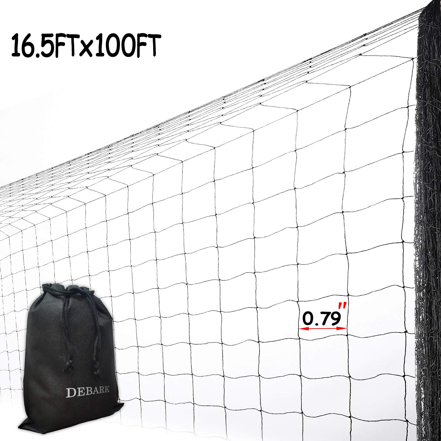 Bird Netting Protect Plants and Fruit Trees - Extra Strong Garden Net is Easy to Use, Doesn't Tangle and Reusable - Lasting Protection (16.5ft x 100ft)