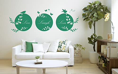 Live Laugh Love Quote Vinyl Wall Art Sticker Mural Decal Home Wall Decor Living Room Bedroom Love Quote Circles Amazon Ca Handmade