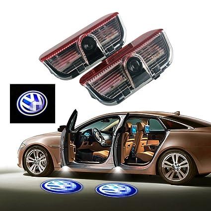 2 uds. de logo proyector fantasma para puerta de coche: Amazon.es ...