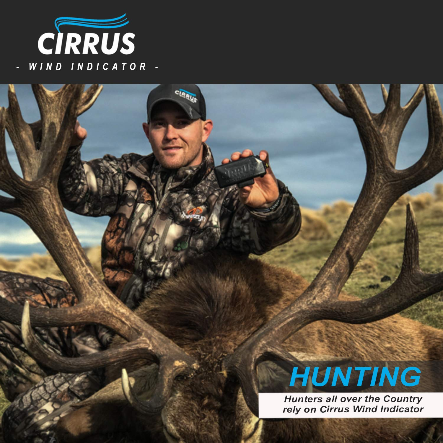 Cirrus Wind Indicator for Hunting - The Perfect Wind Checker Alternative to Messy Powder by Cirrus (Image #7)