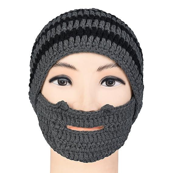 Vbiger Beard Hat Beanie Hat Knit Hat Winter Warm Octopus Hat Windproof Funny  for Men   1db6f09fc983