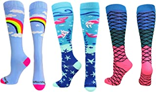 product image for Rainbow Mermaid Cat Socks Gift Pack (Rainbow Mermaid Pack, Medium)