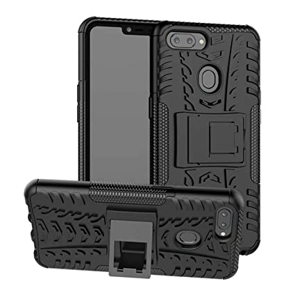 new style 452c8 baec7 DMG Back Cover for Oppo A3s, Shockproof Rugged Hybrid Armor Kickstand Case  for Oppo A3s / A5 (Black Mesh)