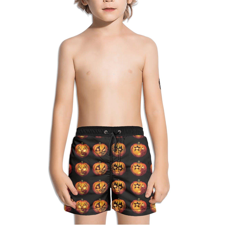 Ouxioaz Boys Swim Trunk Halloween Day Pumpkins Beach Board Shorts