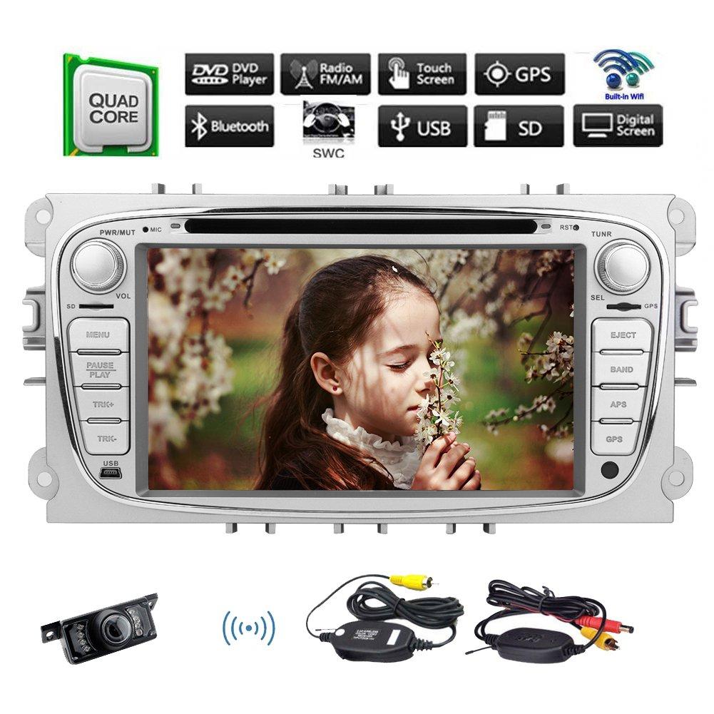 EINCAR GPS Navi Stereo 7-Zoll-HD-kapazitiver Touch Screen Android 9.0 Quad Core 2 GB 32 GB In-Dash-Steuerger/ät Autoradio Eingebautes Mikrofon WiFi Bluetooth Hands-Free-Unterst/ützungs-USB//SD //