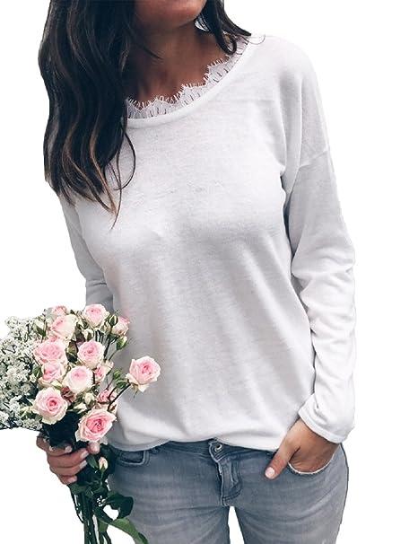 Anself Blusas de Mujer de Moda 2017 Sexy Blusas Camiseta Mujer Negro / Blanco