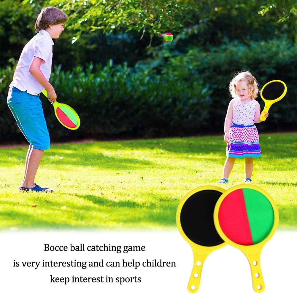 Giochi per Esterni Bambini Tennis Giocattolo a Sfera Catch And Toss Set di Gioco Set Regalo per Bambini Baseball 2 Paddles And 3 Balls Gioco Estivo SIMUER Giocattoli per Ragazzi,Racchetta