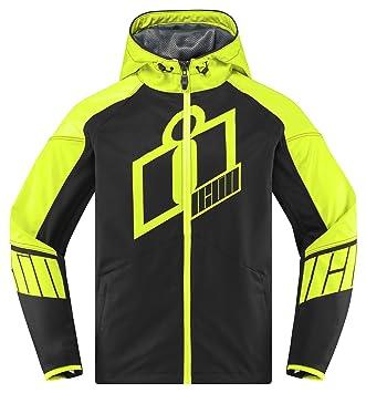Icon Merc Crusader Hi-Viz - Chaqueta para motocicleta, color amarillo y negro: Amazon.es: Coche y moto