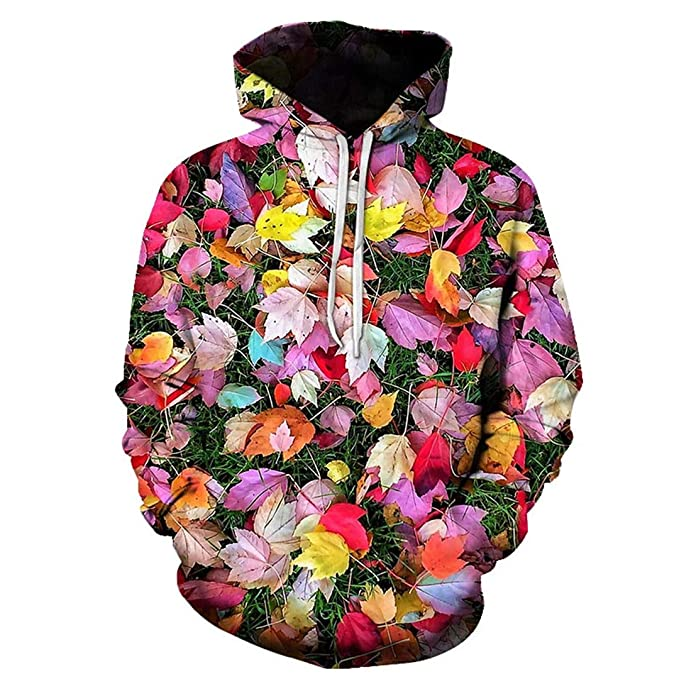 Flowers Printed 3D Hoodies Novelty Sweatshirts Casual Coats Hooded Jackets Funny Outwear Unisex Tracksuits 001 S