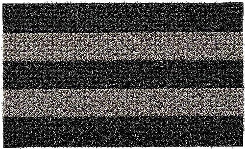 GrassWorx Clean Machine Patio Stripe Doormat, 18 x 30 , Root Beer 10371829