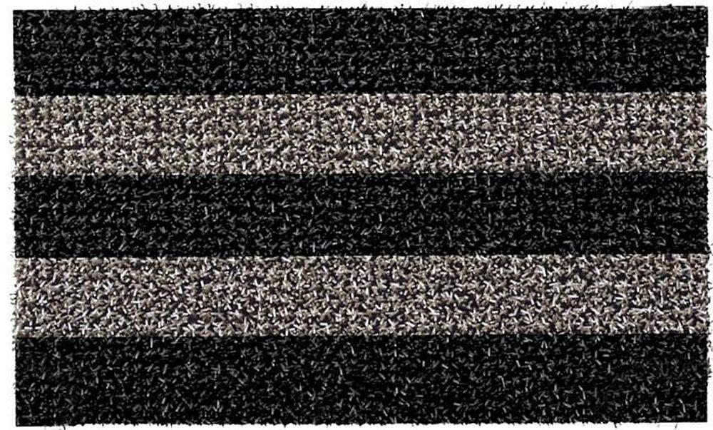GrassWorx Clean Machine Patio Stripe Doormat, 18'' x 30'', Root Beer (10371829)
