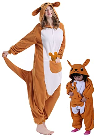 BRLMALL Unisex Adult Pajamas - Plush One Piece Cosplay Kangaroo Animal  Costume  Amazon.co.uk  Clothing 501226e5f