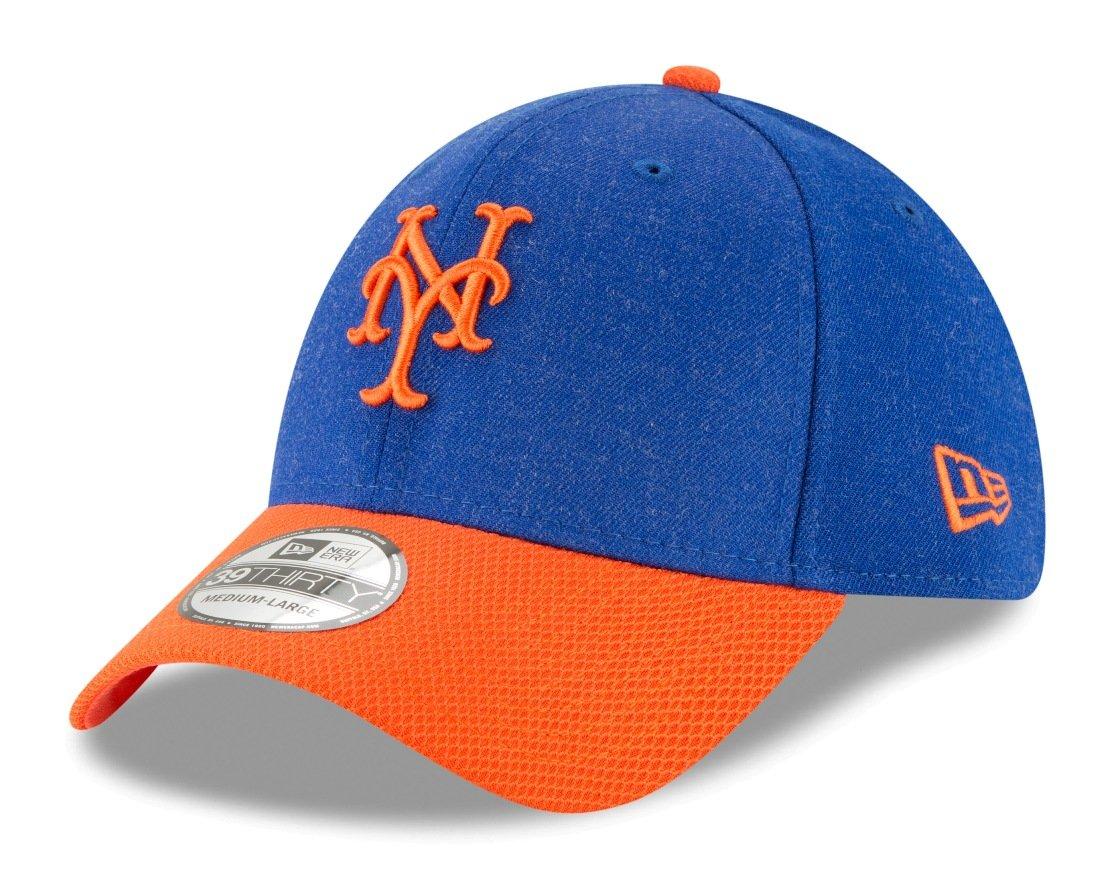 6f89f269cf1 Amazon.com   New York Mets New Era Heathered Gray Orange Change up Redux  39THIRTY Hat (L XL)   Sports   Outdoors
