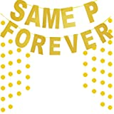 TMCCE SAME PENFOREVER Banner For Bridal Shower Bachelorette Party Decorations