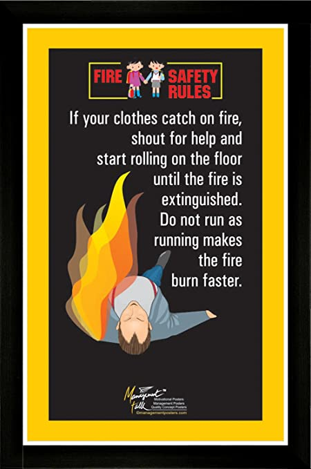 Managementtalk Posters Fire Safety Rules Shout And Roll When Your