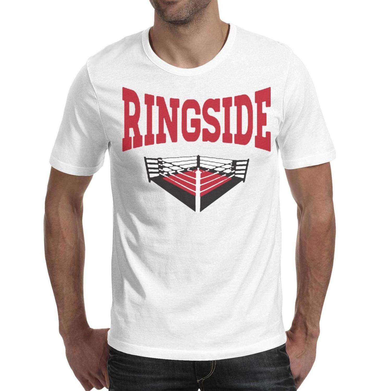 Classic Mens Athletic Tee-Symbol-Funny-Ringside-Boxing-T-Shirt Casual Plain