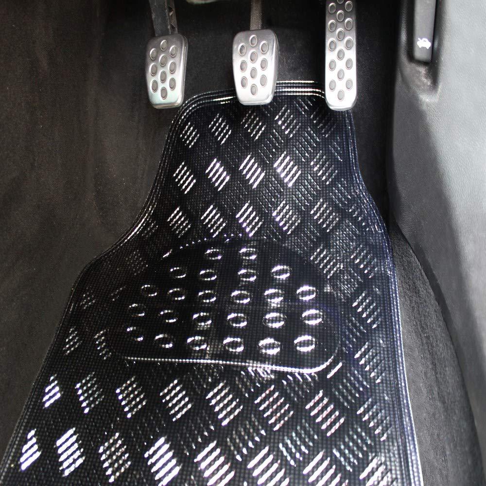 4 Pezzi Colore Nero JVL 01-739 Titan Metallic-Set di tappetini universali in Gomma