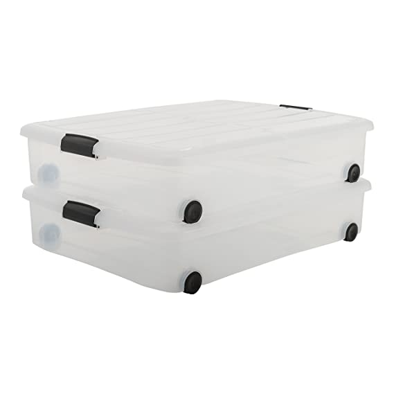 IRIS, 2er-Set Unterbettboxen / Rollerboxen / Aufbewahrungsboxen