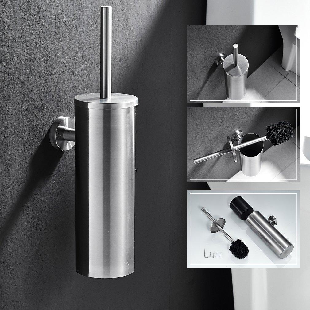 Auralum® Edelstahl WC Klobürste Klosettbürste Bürste Garnitur Toilettenbürste