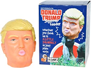 Donald Trump Squirrel Feeder, Perfect for Political Gag Gifts or for a Gift Exchange, Keep Squirrels Away from The Bird Feeder and Entertaining You Instead
