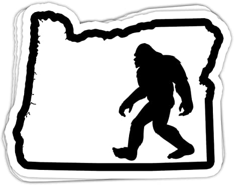 PNW Pacific Northwest Oregon Bigfoot Sasquatch Sticker Sheet 4x6 Die Cut Camping Hiking