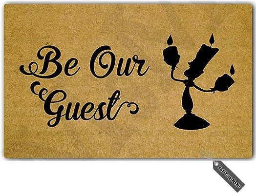 MsMr Entrance Floor Mat Funny Doormat Be Our Guest. Door Mat Outdoor Indoor Rubber Mat Non-Woven Fabric Top 18 x30