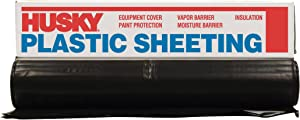 Husky CF0608B 8' X 100' 6 ML Tyco Polyethylene Black Plastic Sheeting
