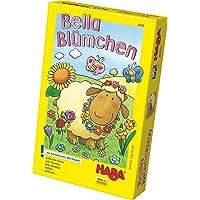 Haba 4093 – Bella Flower färgglad tärningsspel, för 2–4 barn från 3–6 år, brädspel för att lära sig färger och symboler