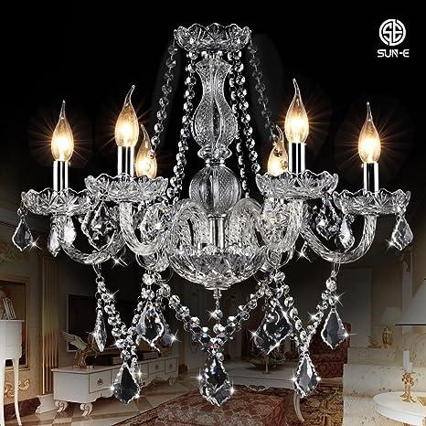 SUN-E Cristal clásico de la vela de cristal espiral clásico ...