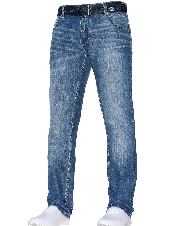 TALLA 44W / 32L. Crosshatch Pantalones Vaqueros clásicos de Corte Recto para Hombre, Estilo Vaquero, Todos los tamaños de Cintura