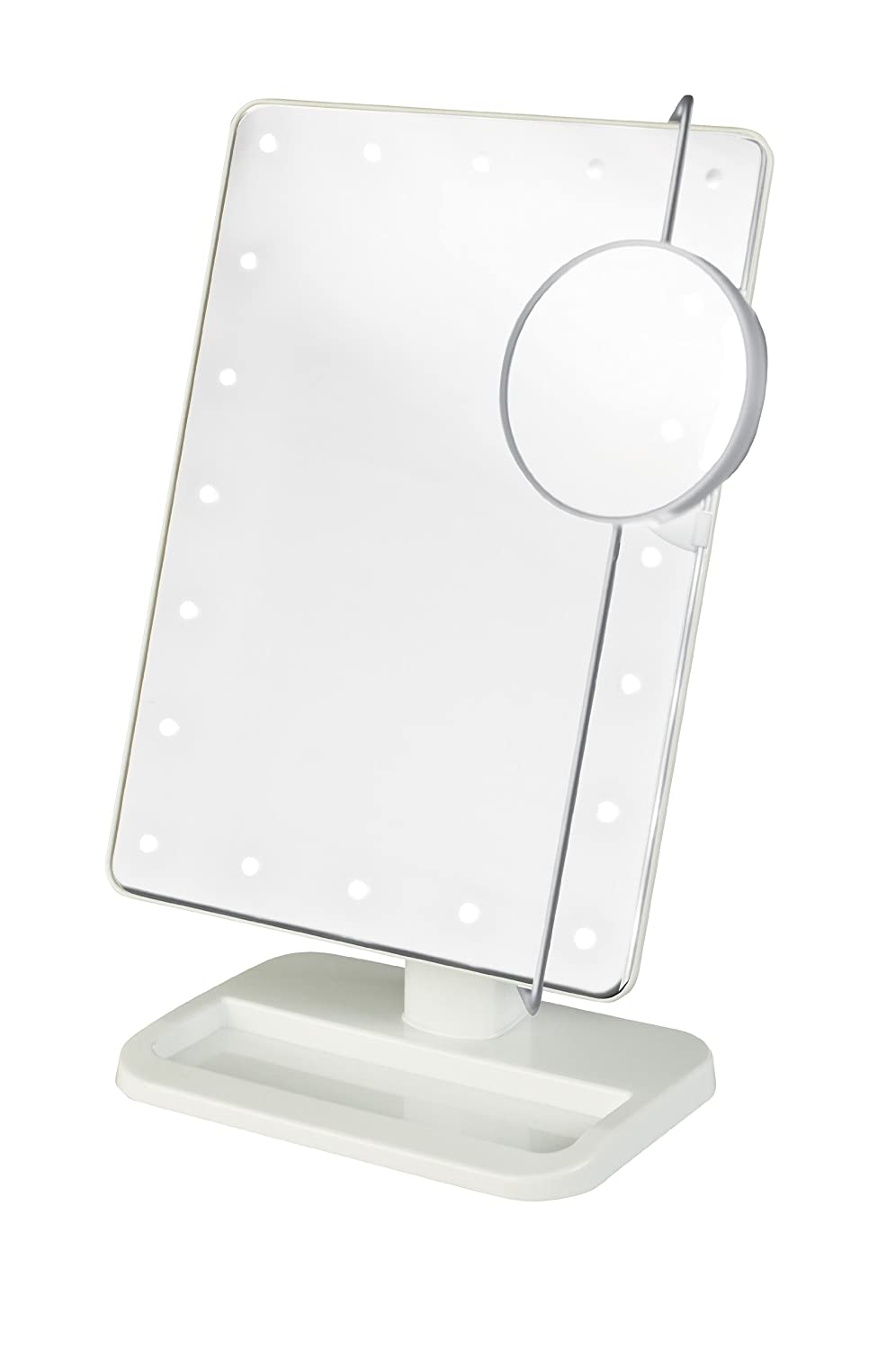 Jerdon JS811W Rectangular LED Lighted Vanity Mirror