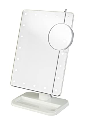 Jerdon JS811W 8-Inch by 11-Inch Rectangular LED Lighted Vanity Mirror