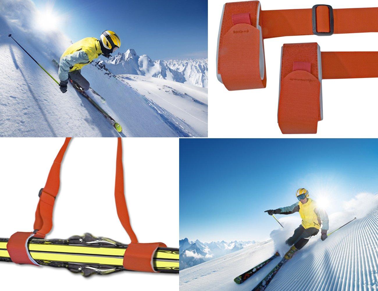 Glamia Home Tools EU/® Ski Strap Carry Strap /Shoulder Strap for Skis and Ski Poles of Skis Ski Touring Cross Country Ski 3/Colours Carry Straps/