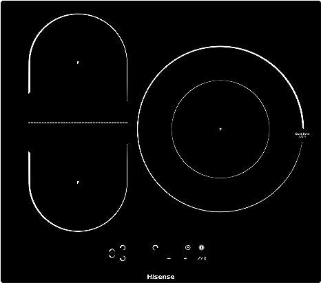 Opinión sobre Hisense I6337C - Placa Inducción 3 zonas, 1 con foco gigante 32Cm, 2 conectadas entre si área Bridge, encimera de 60Cm, bloqueo infantil y terminación biselada