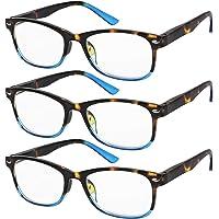 9e8fef4c6ea9 Reading Glasses Set of 3 Great Value Spring Hinge Readers Men and Women  Glasses for Reading