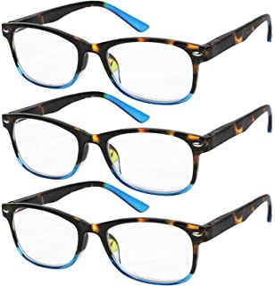 ee2ccd4e74 Reading Glasses Set of 3 Great Value Spring Hinge Readers Men and Women  Glasses for Reading