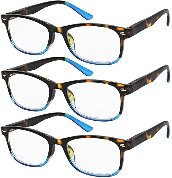 025be9bb20c Reading Glasses Set of 3 Great Value Spring Hinge Readers Men and Women  Glasses for Reading