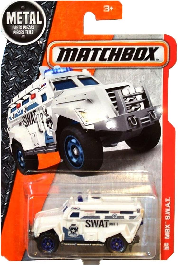 Matchbox Cars 2016 Mbx S W A T Armored Police Truck White Rare Short Card Amazon Co Uk Welcome