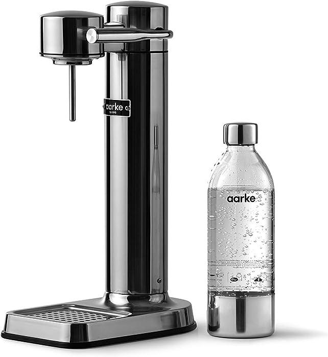 Aarke - Carbonator III Premium Carbonator/Sparkling & Seltzer Water Maker with PET Bottle (Stainless Steel)