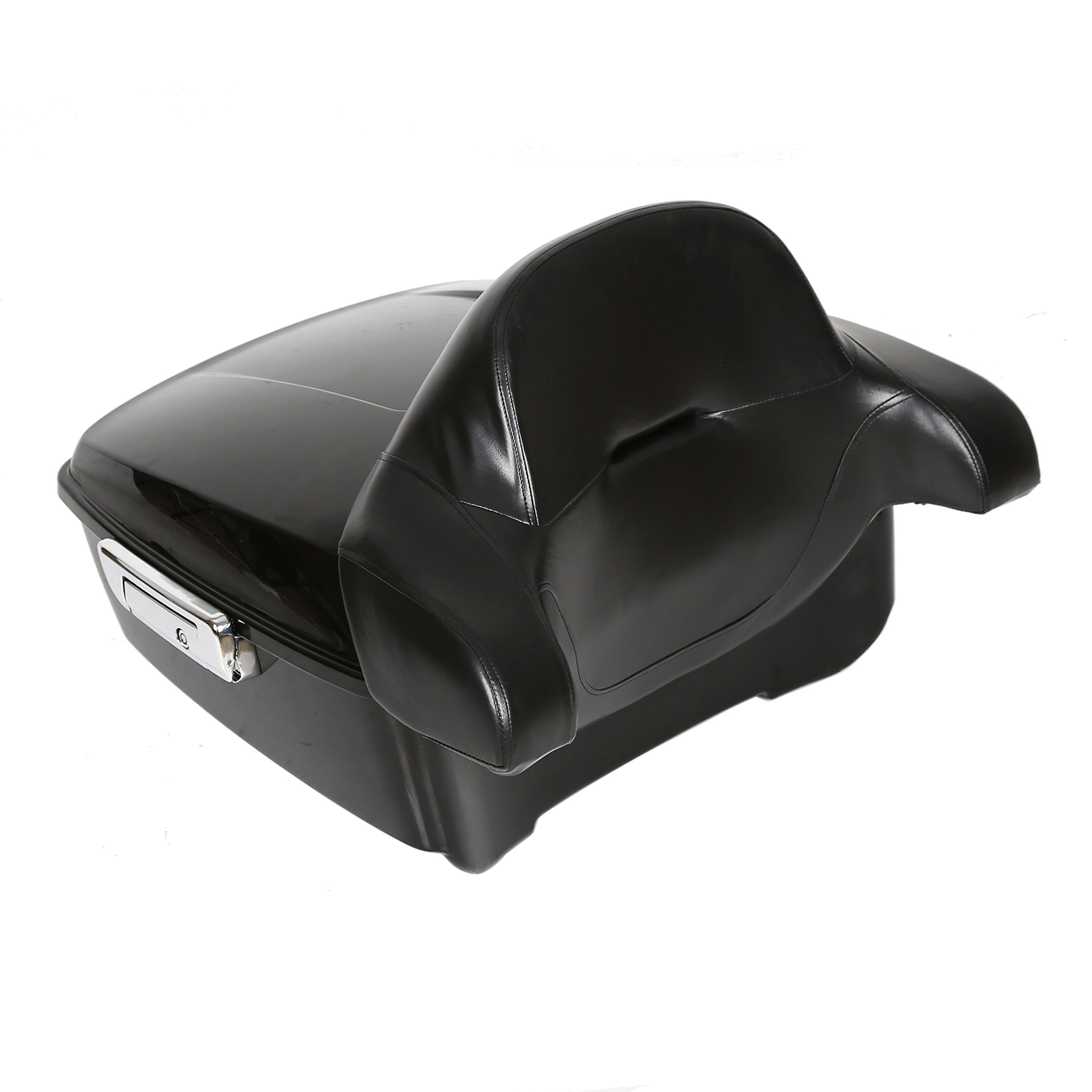 King Tour Pack Touring Pak Trunk Tail Box W/or W/O Wrap-around Backrest Pad For Harley Touring Models 2014-2018 New (King Tour Pack W/Backrest)