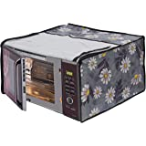 Dream Care White Flower Printed Microwave Oven Cover for LG 28 Litre MJ2886BFUM