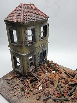 fog models casa maqueta diseo de casa destruida cermica y resina
